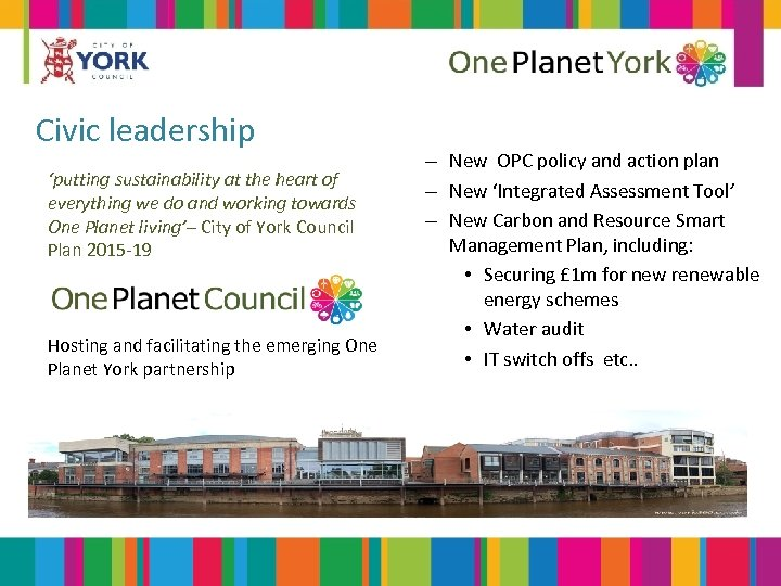 Civic leadership 'putting sustainability at the heart of everything we do and working towards