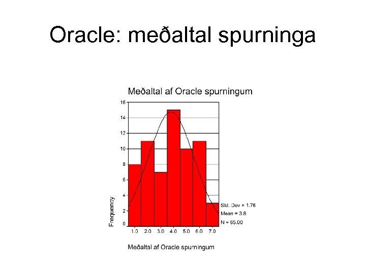 Oracle: meðaltal spurninga