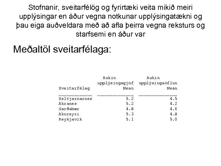 Stofnanir, sveitarfélög og fyrirtæki veita mikið meiri upplýsingar en áður vegna notkunar upplýsingatækni og