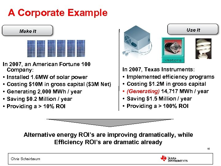A Corporate Example Make It In 2007, an American Fortune 100 Company: • Installed