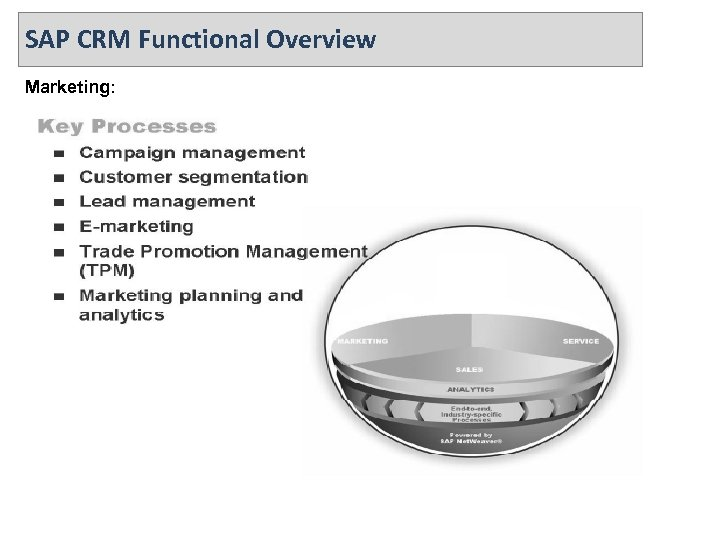 SAP CRM Functional Overview Marketing: