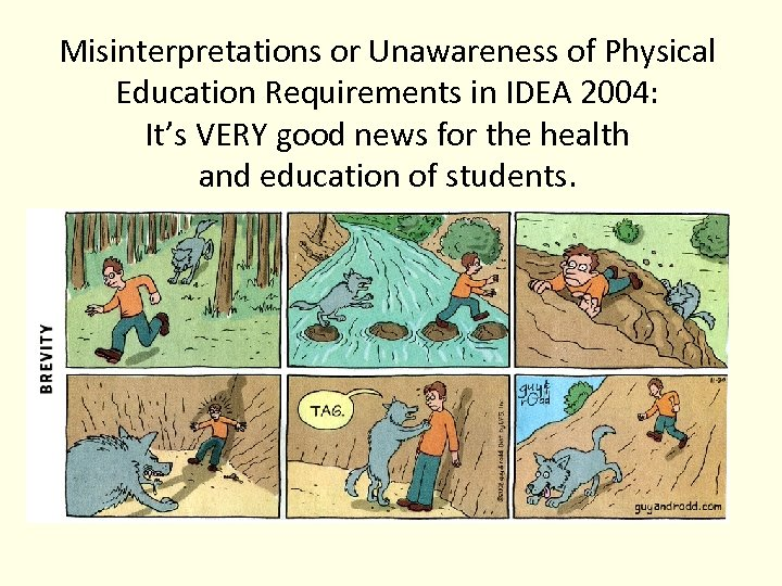 Misinterpretations or Unawareness of Physical Education Requirements in IDEA 2004: It's VERY good news