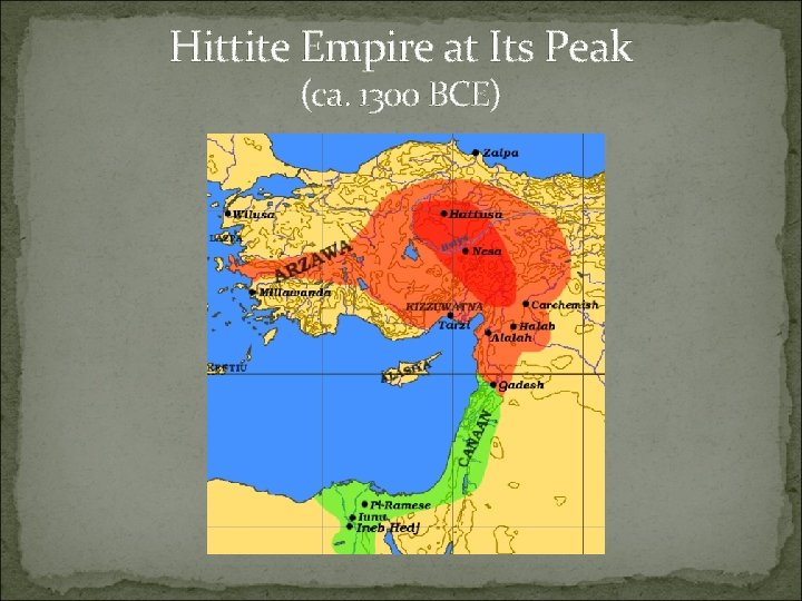 Hittite Empire at Its Peak (ca. 1300 BCE)
