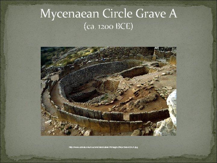Mycenaean Circle Grave A (ca. 1200 BCE) http: //www. utexas. edu/courses/classicalarch/images 2/Myc. Grave. Circ.