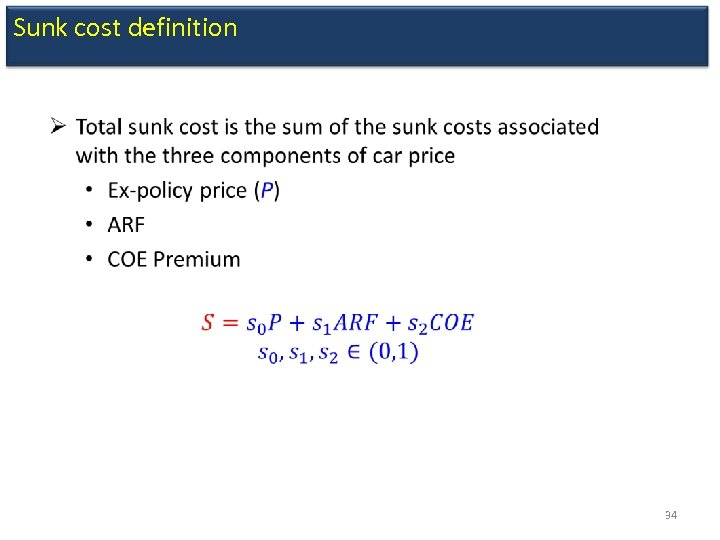 Sunk cost definition 34
