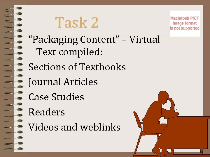 "Task 2 ""Packaging Content"" – Virtual Text compiled: Sections of Textbooks Journal Articles Case"