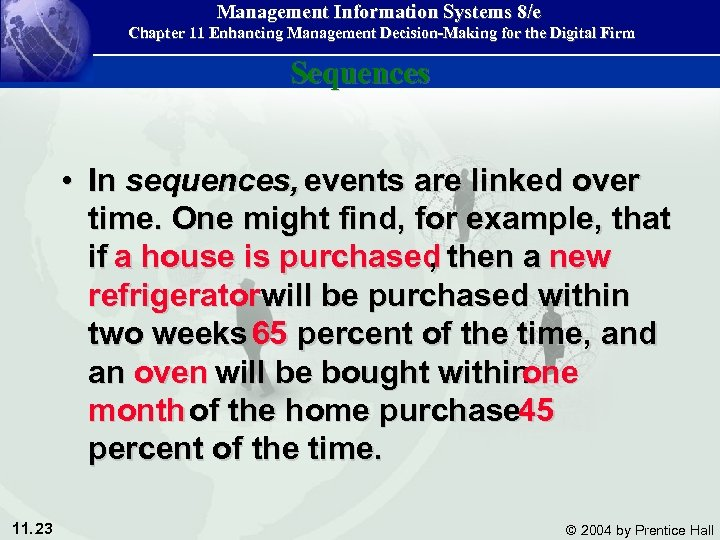 Management Information Systems 8/e Chapter 11 Enhancing Management Decision-Making for the Digital Firm Sequences