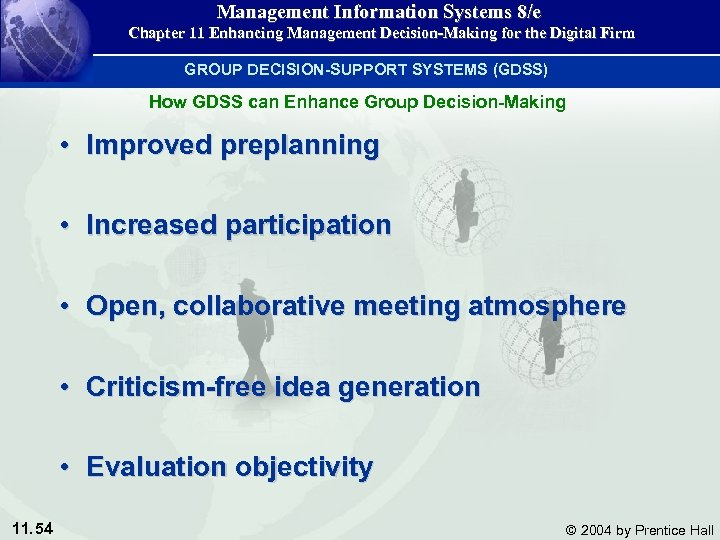 Management Information Systems 8/e Chapter 11 Enhancing Management Decision-Making for the Digital Firm GROUP