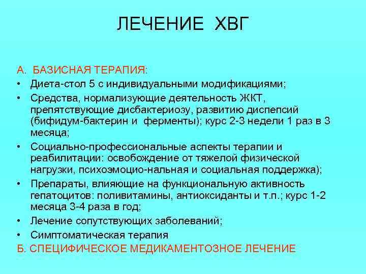 Хронический Гепатит C Диета.