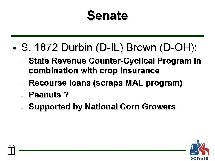 Senate § S. 1872 Durbin (D-IL) Brown (D-OH): - - State Revenue Counter-Cyclical Program