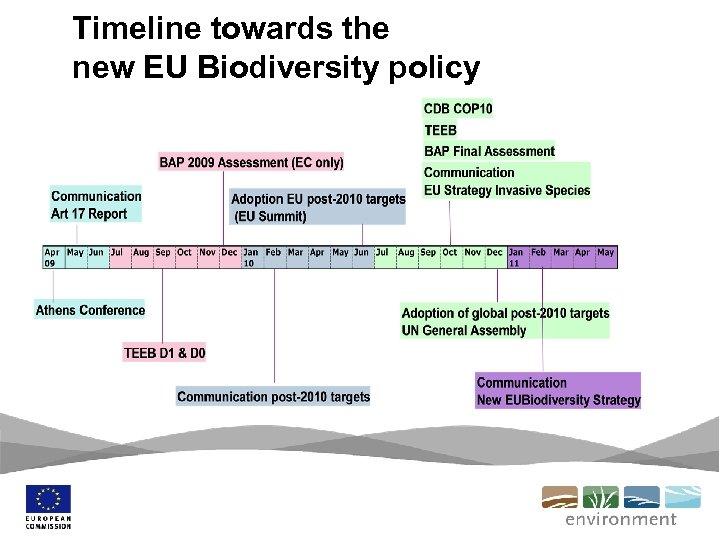 Timeline towards the new EU Biodiversity policy
