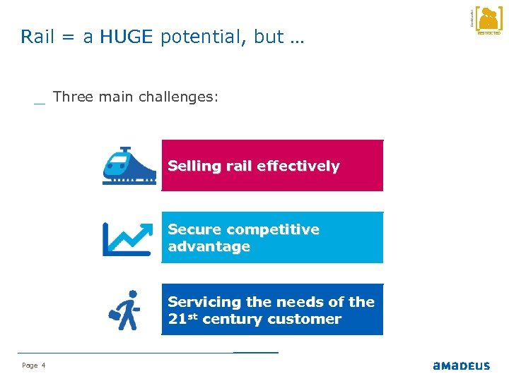 _ Three main challenges: Selling rail effectively Secure competitive advantage Servicing the needs of