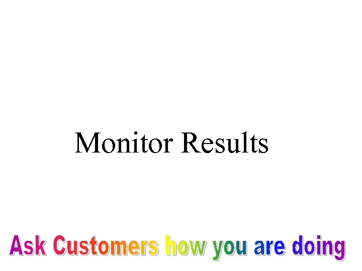 Monitor Results