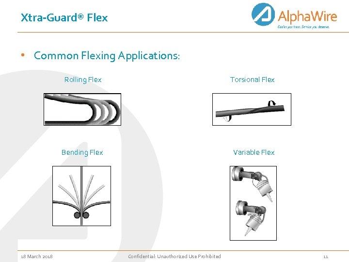 Xtra-Guard® Flex • Common Flexing Applications: Rolling Flex Bending Flex 18 March 2018 Torsional