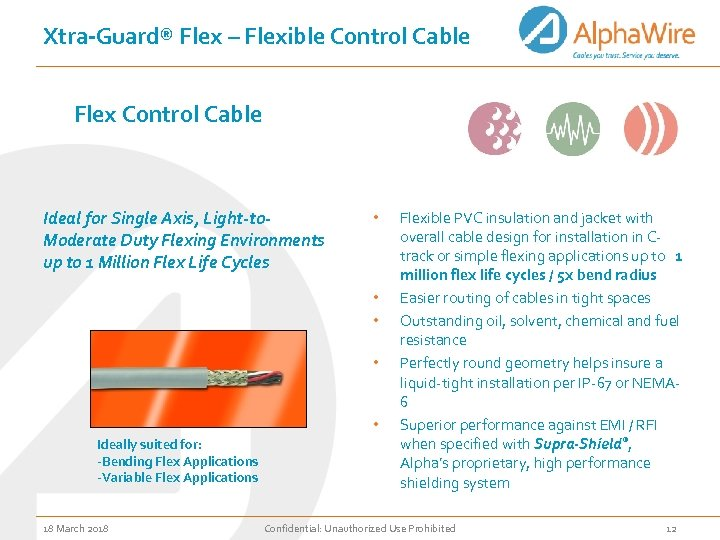 Xtra-Guard® Flex – Flexible Control Cable Flex Control Cable Ideal for Single Axis, Light-to.