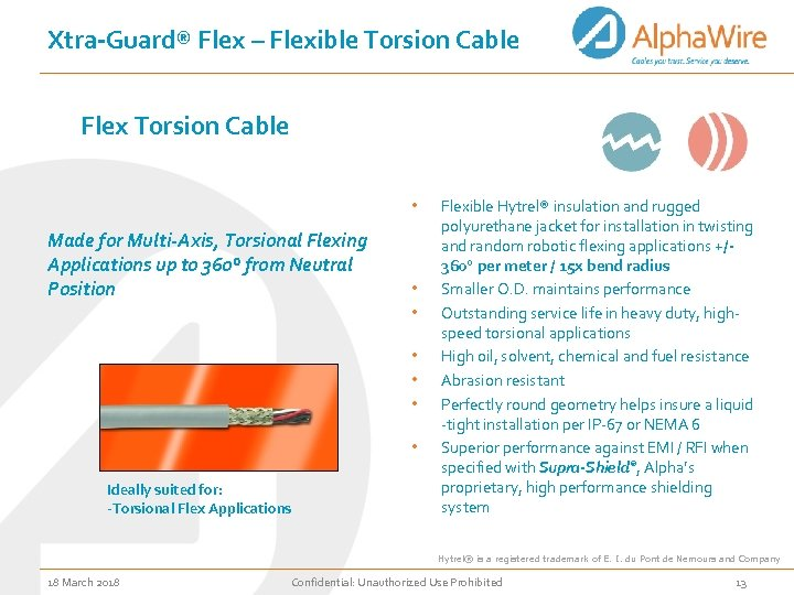 Xtra-Guard® Flex – Flexible Torsion Cable Flex Torsion Cable • Made for Multi-Axis, Torsional