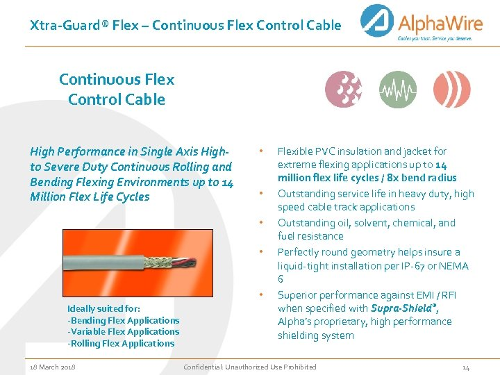 Xtra-Guard® Flex – Continuous Flex Control Cable High Performance in Single Axis Highto Severe