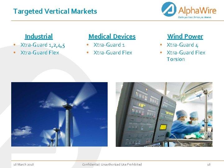 Targeted Vertical Markets Industrial • Xtra-Guard 1, 2, 4, 5 • Xtra-Guard Flex 18