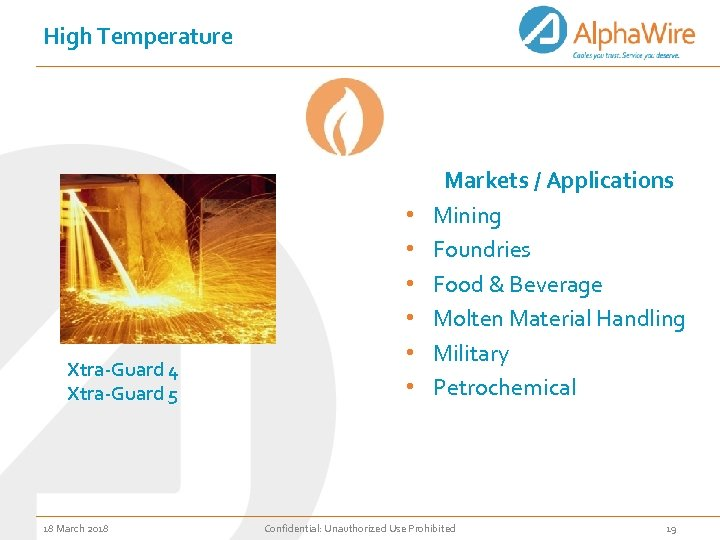 High Temperature Xtra-Guard 4 Xtra-Guard 5 18 March 2018 • • • Markets /