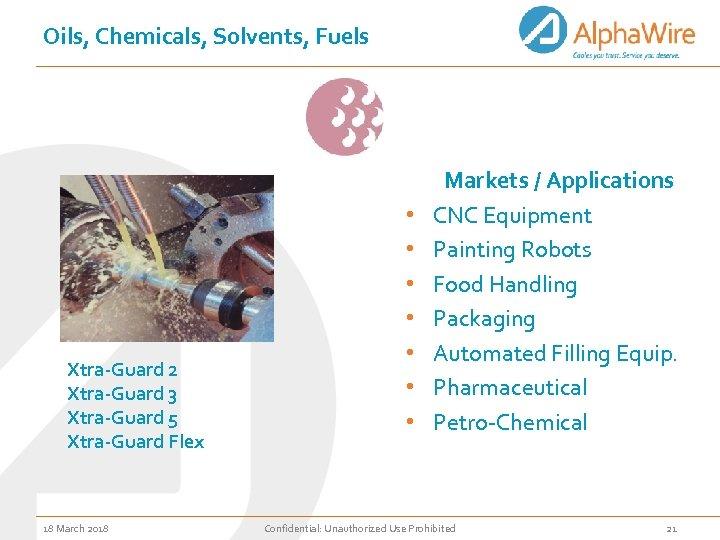 Oils, Chemicals, Solvents, Fuels Xtra-Guard 2 Xtra-Guard 3 Xtra-Guard 5 Xtra-Guard Flex 18 March