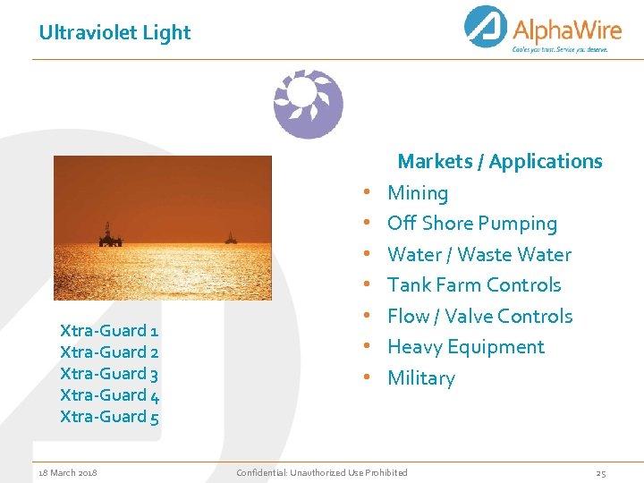 Ultraviolet Light Xtra-Guard 1 Xtra-Guard 2 Xtra-Guard 3 Xtra-Guard 4 Xtra-Guard 5 18 March