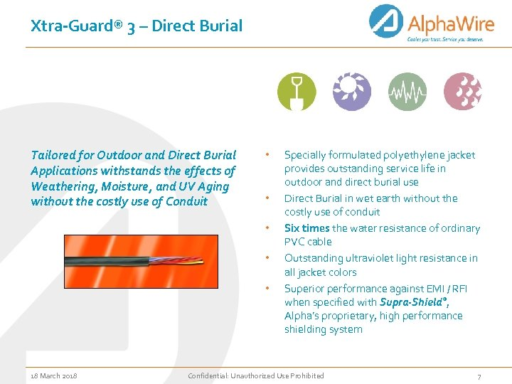 Xtra-Guard® 3 – Direct Burial Tailored for Outdoor and Direct Burial Applications withstands the