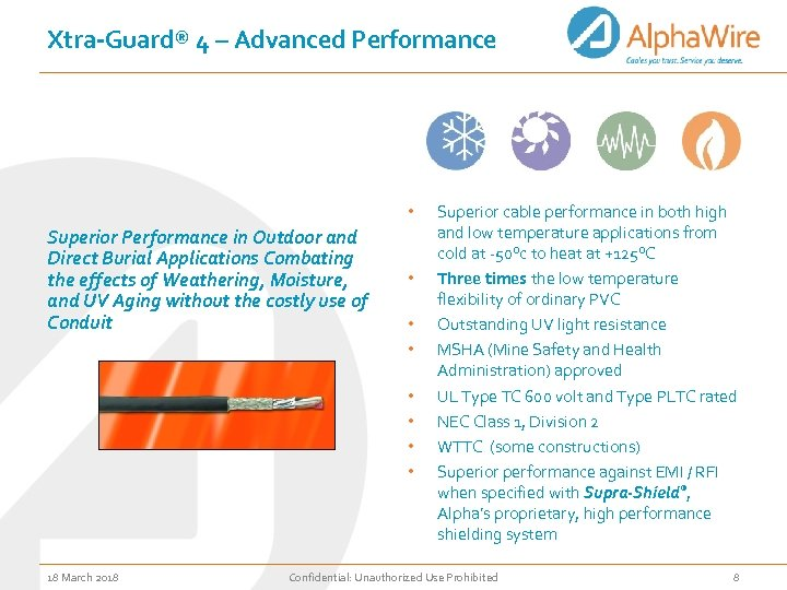 Xtra-Guard® 4 – Advanced Performance • Superior Performance in Outdoor and Direct Burial Applications