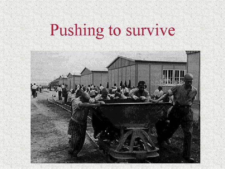 Pushing to survive