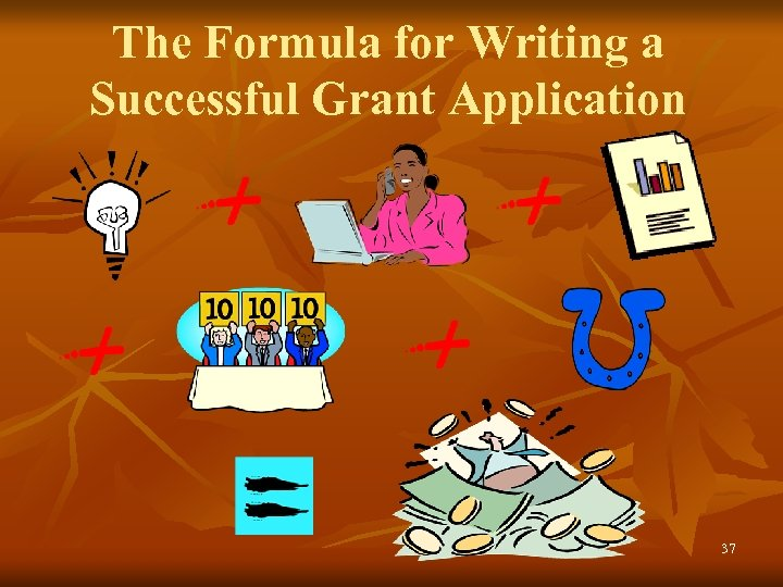 The Formula for Writing a Successful Grant Application 37