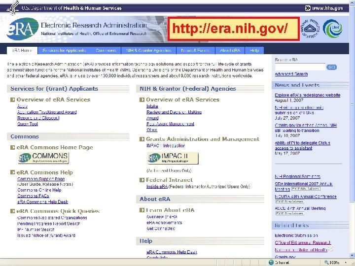 http: //era. nih. gov/ 95