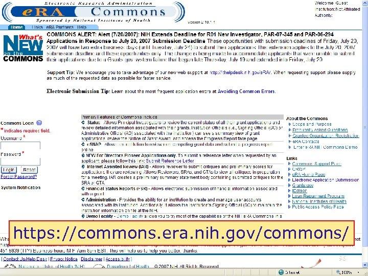 https: //commons. era. nih. gov/commons/ 96
