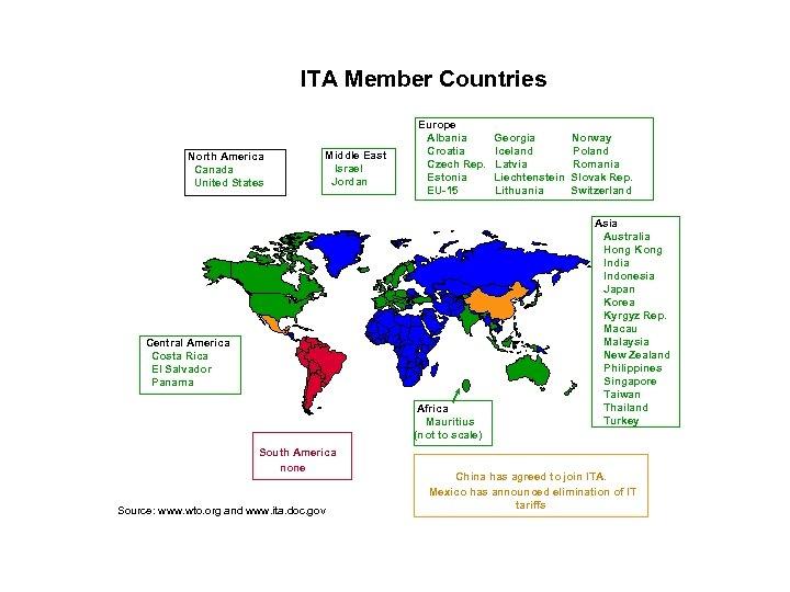 ITA Member Countries North America Canada United States Middle East Israel Jordan Europe Albania
