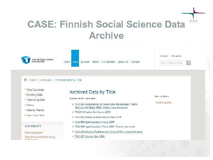 CASE: Finnish Social Science Data Archive