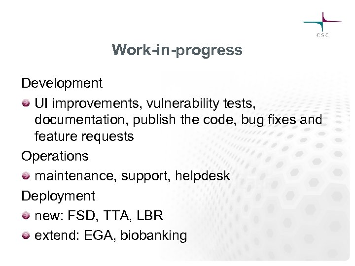 Work-in-progress Development UI improvements, vulnerability tests, documentation, publish the code, bug fixes and feature