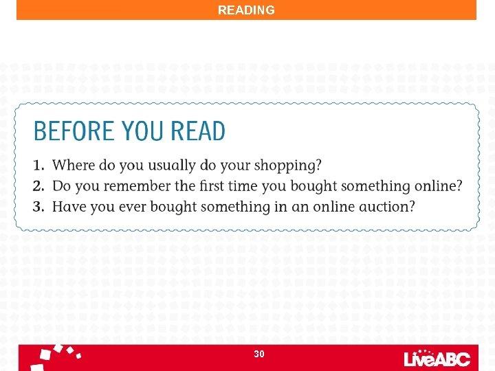 READING 30
