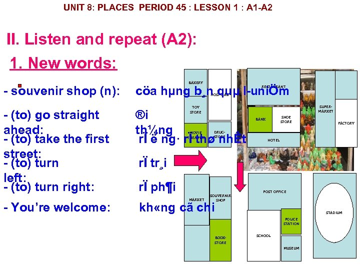 UNIT 8: PLACES PERIOD 45 : LESSON 1 : A 1 A 2 II.