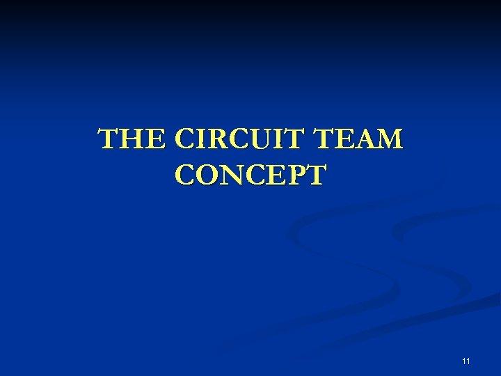 THE CIRCUIT TEAM CONCEPT 11