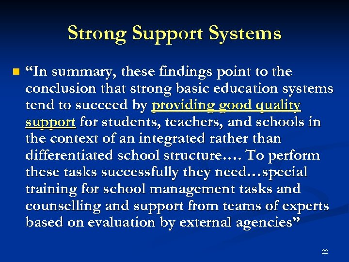 """Strong Support Systems n """"In summary, these findings point to the conclusion that strong"""