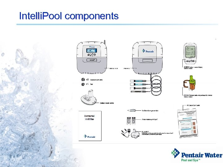 Intelli. Pool components