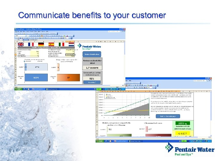 Communicate benefits to your customer