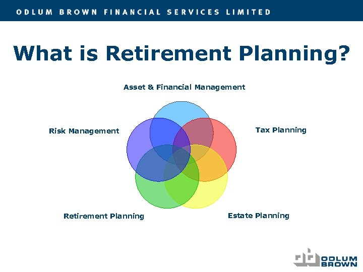 What is Retirement Planning? Asset & Financial Management Risk Management Retirement Planning Tax Planning