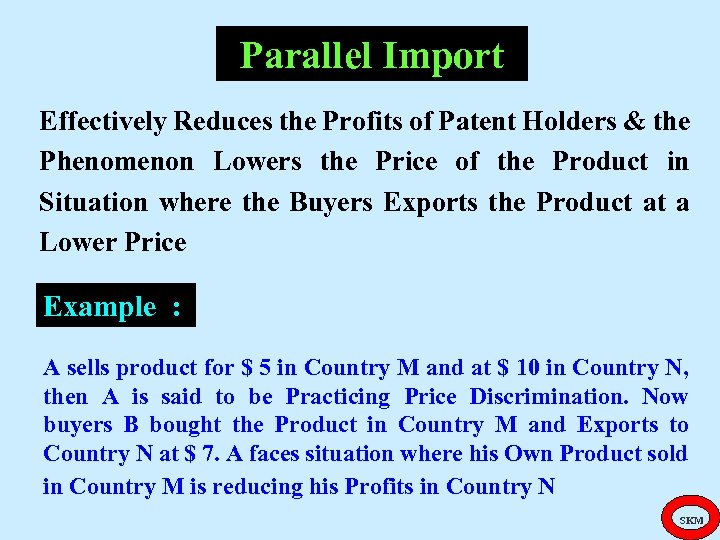 Parallel Import Effectively Reduces the Profits of Patent Holders & the Phenomenon Lowers the
