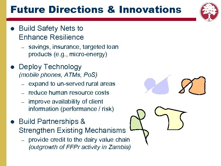 Future Directions & Innovations l Build Safety Nets to Enhance Resilience – l savings,