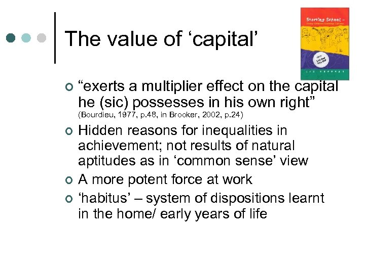 """The value of 'capital' ¢ """"exerts a multiplier effect on the capital he (sic)"""