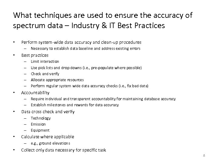 What techniques are used to ensure the accuracy of spectrum data – Industry &