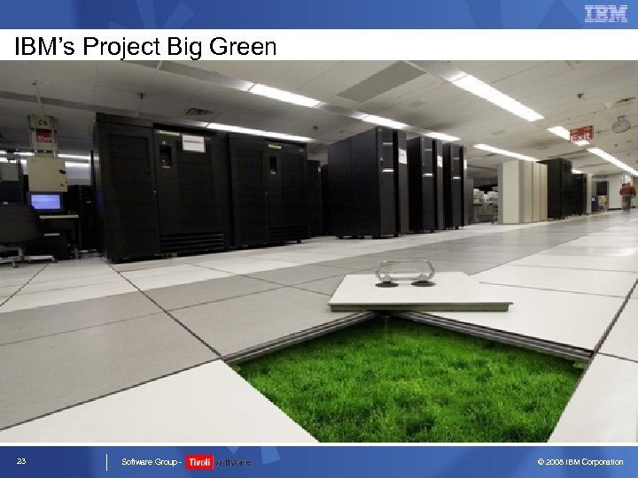 IBM's Project Big Green 23 Software Group - © 2008 IBM Corporation