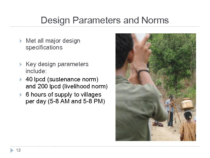 Design Parameters and Norms Met all major design specifications Key design parameters include: 40