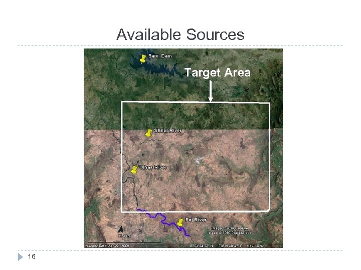 Available Sources Target Area 16