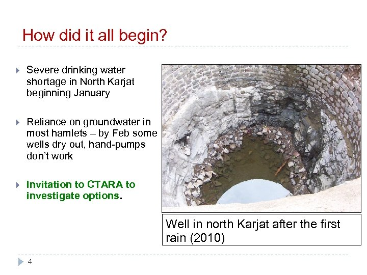 How did it all begin? Severe drinking water shortage in North Karjat beginning January