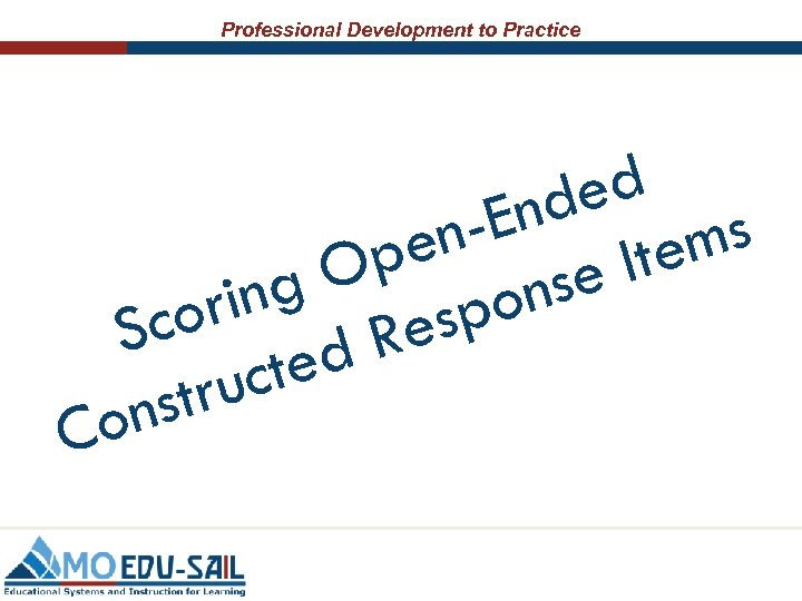 Professional Development to Practice ed End ems npe It O se g on rin